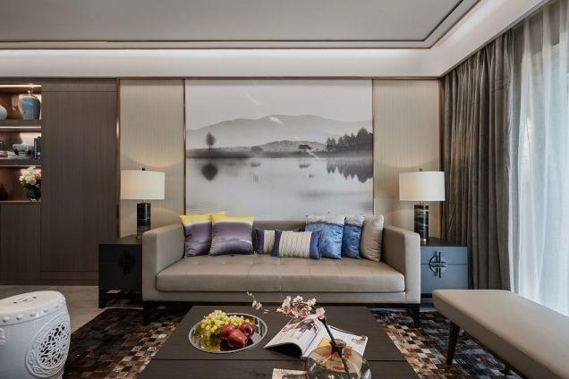 棕榈泉120平现代风格三室两厅一厨两卫装修效果图