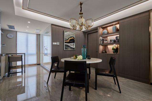 餐厅灰色地砖现代简约风格装饰设计图片