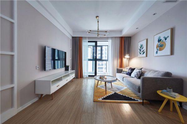 北欧风格81平米两室两厅新房装修效果图