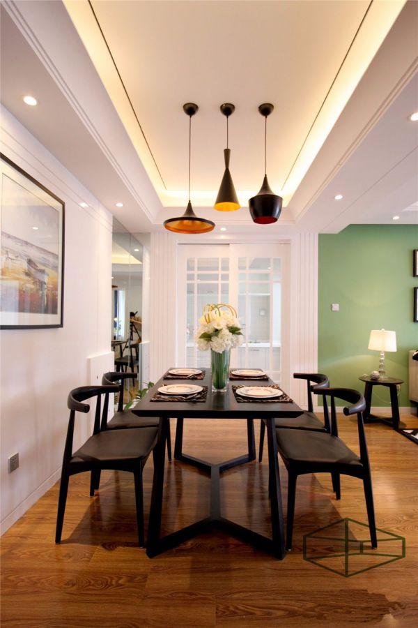 餐厅灯具现代简约风格装修设计图片
