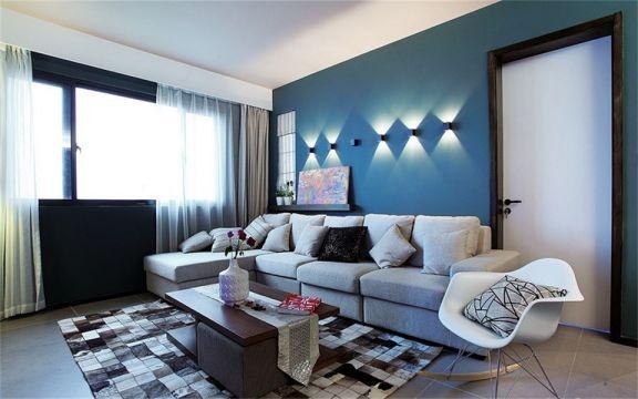 简欧风格78平米两室两厅新房装修效果图