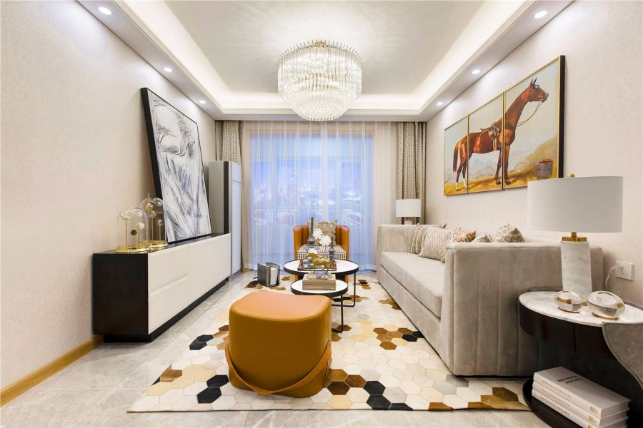 90平米现代简约风格三居室装修效果图