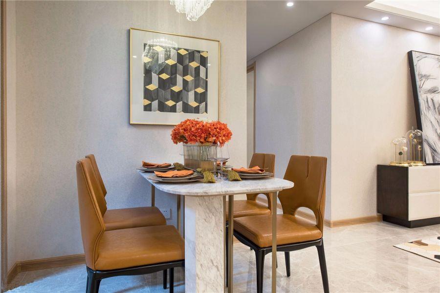 餐厅地砖现代简约风格装饰设计图片