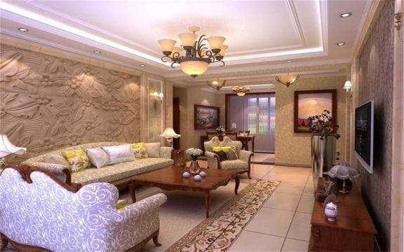 客厅沙发欧式风格效果图