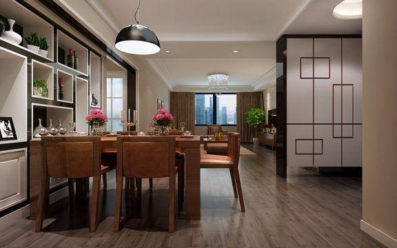 现代简约风格96平米两室两厅新房装修效果图