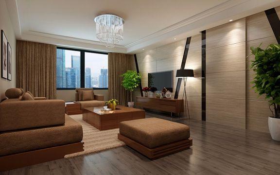 华府骏苑二居室96平米现代简约风格装修效果图