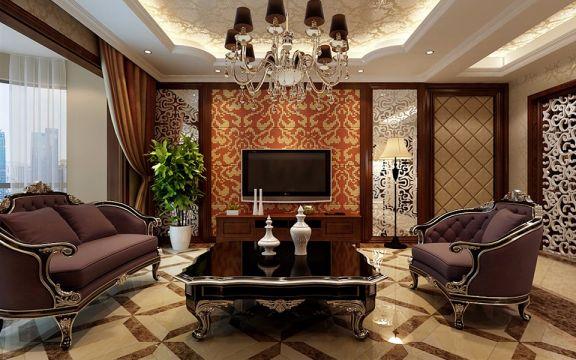 2020新古典110平米装修设计 2020新古典三居室装修设计图片