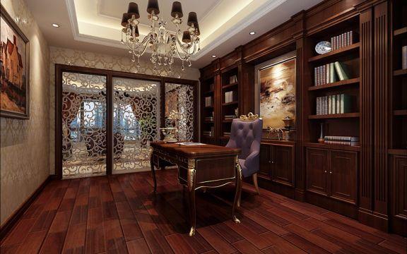 书房书架新古典风格装饰效果图