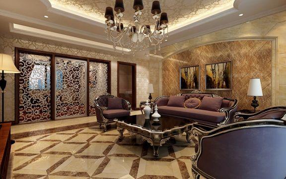 客厅沙发新古典风格装潢效果图