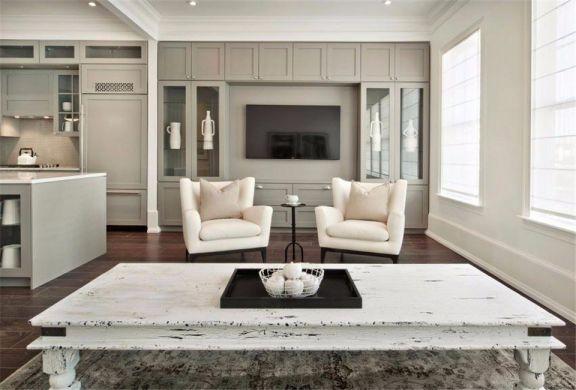120平三居套房现代风格装修效果图