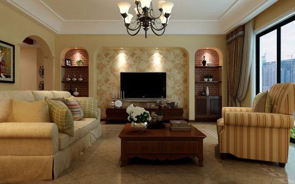 14.8万预算92平米三室两厅装修效果图