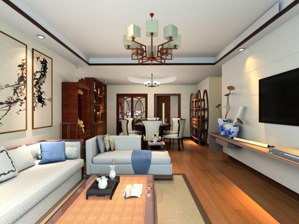 13万预算95平米两室两厅装修效果图