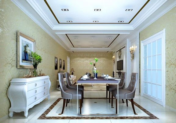 16万预算118平米三室两厅装修效果图
