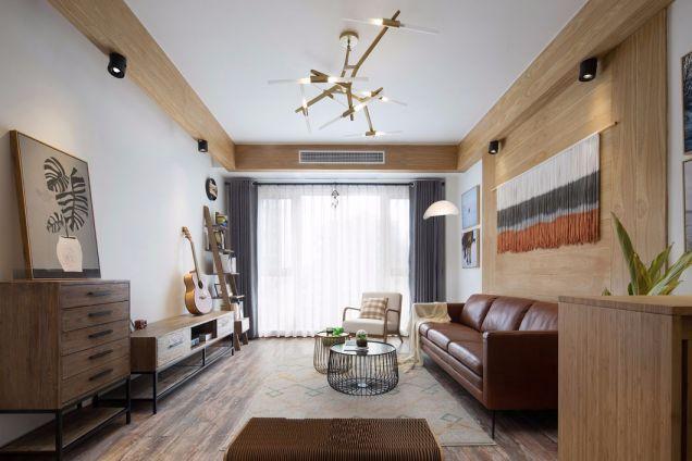 北欧风格95平米三室两厅新房装修效果图