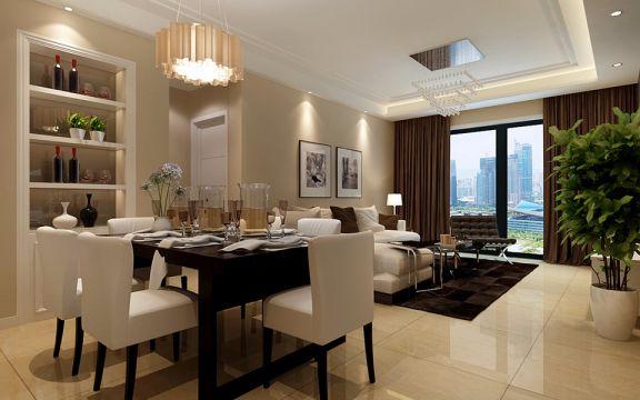 6.8万预算79平米两室两厅装修效果图