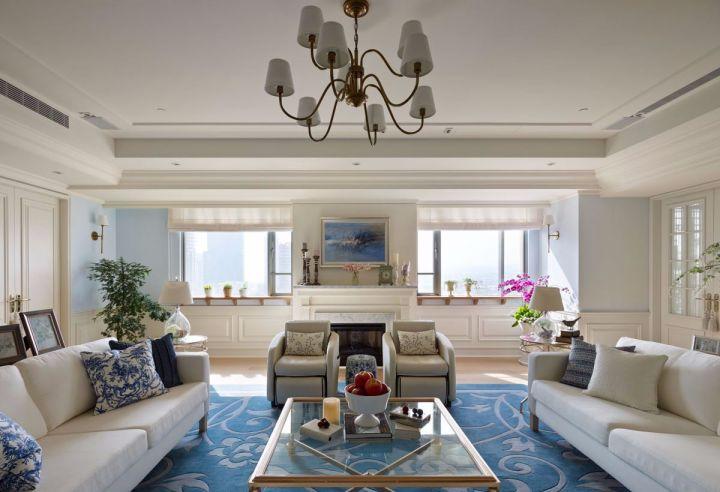 16万预算150平米三室两厅装修效果图