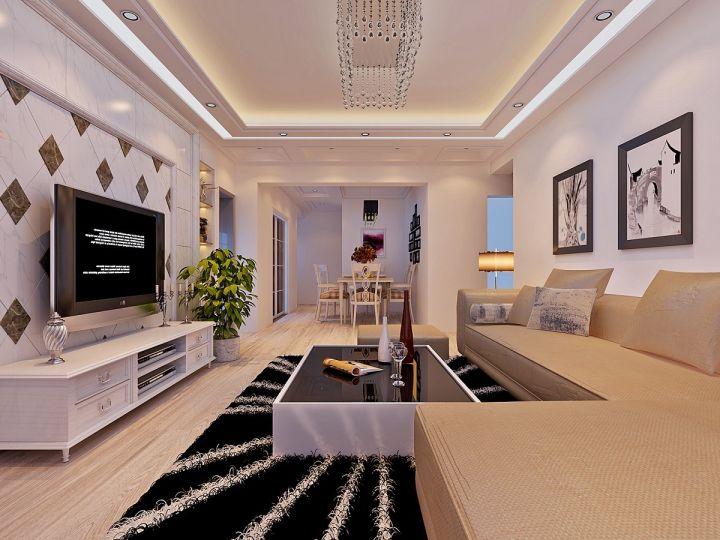 现代风格140平米套房室内装修效果图