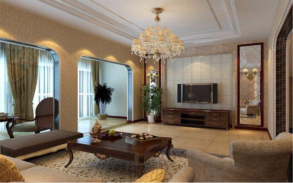 混搭风格200平米大户型新房装修效果图