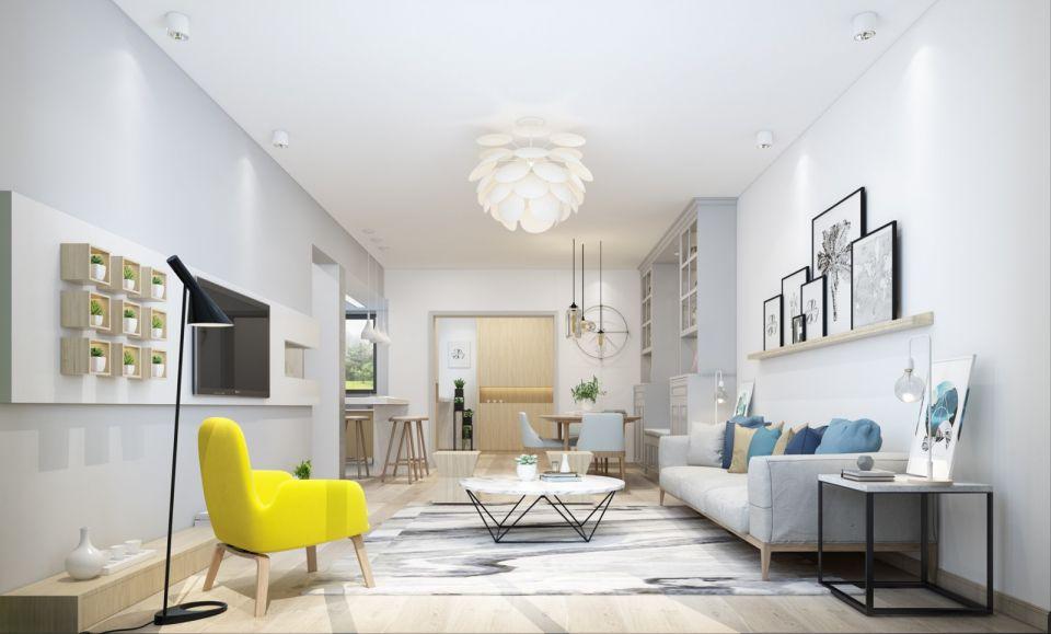 现代简约风格120平米四室两厅新房装修效果图