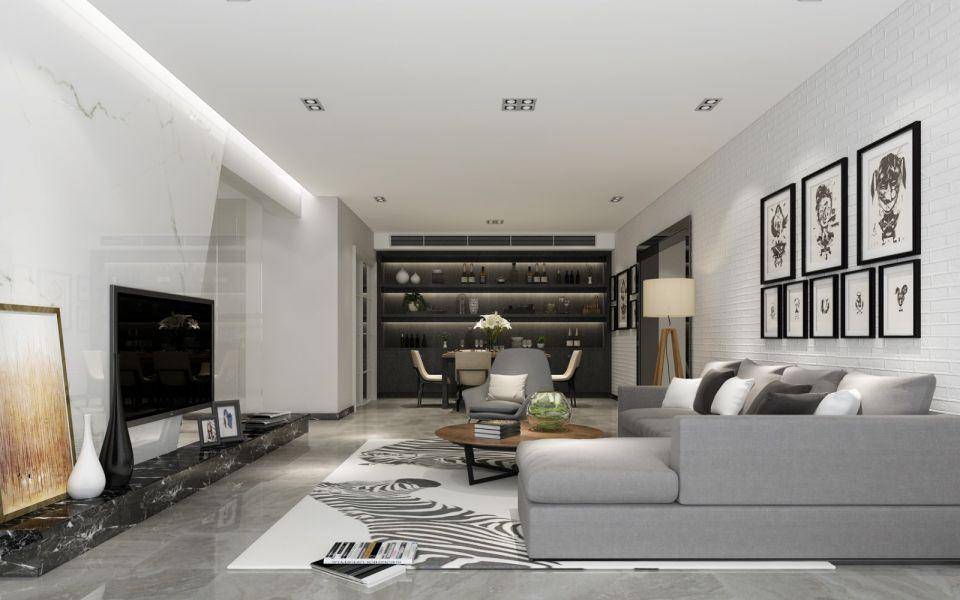 现代简约风格150平米四室两厅新房装修效果图