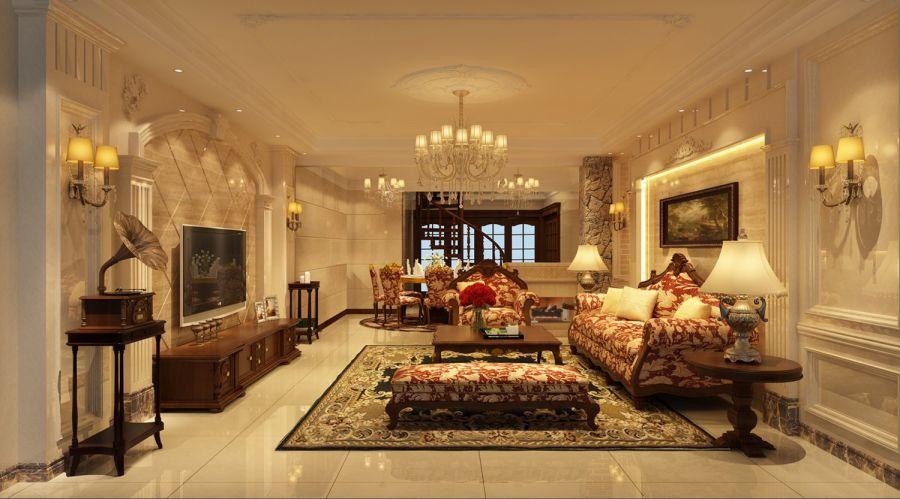 混搭风格320平米四室两厅新房装修效果图