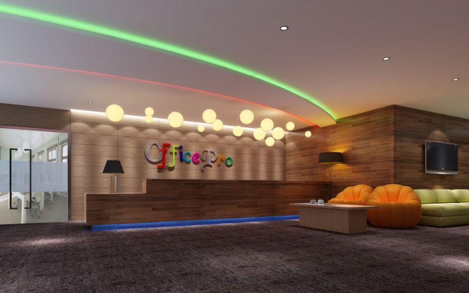 900平米现代混搭中式和欧式风格天安数码城澳普诺集团公司办公室效果图