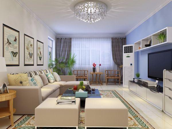 简约风格113平米三室两厅新房装修效果图