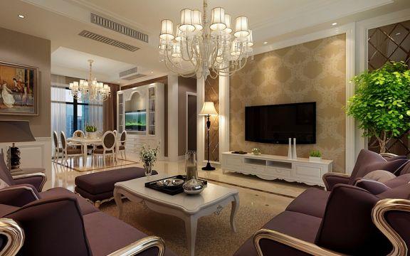 10.8万预算86平米两室两厅装修效果图