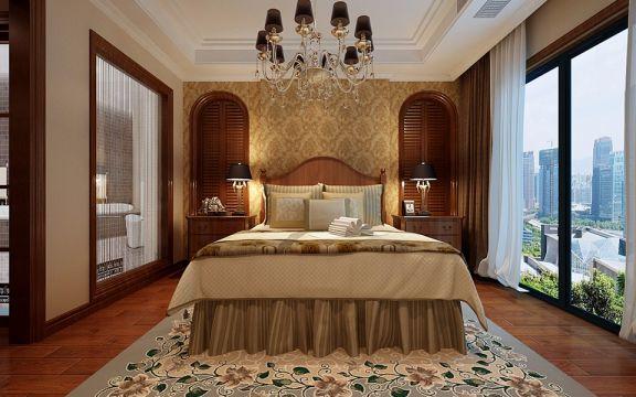 新古典风格86平米三室两厅新房装修效果图