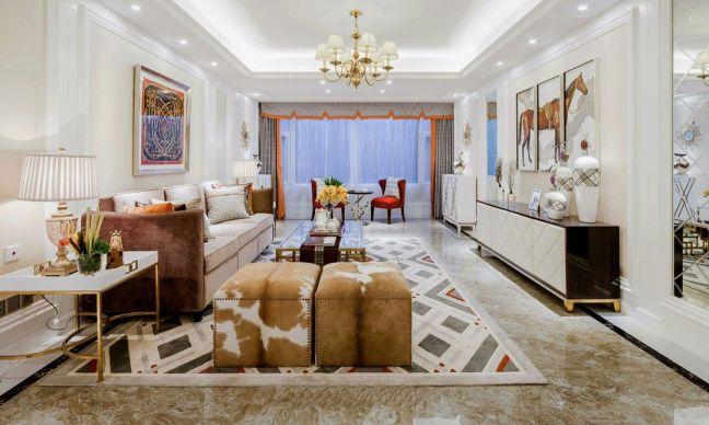 2019古典110平米装修设计 2019古典三居室装修设计图片