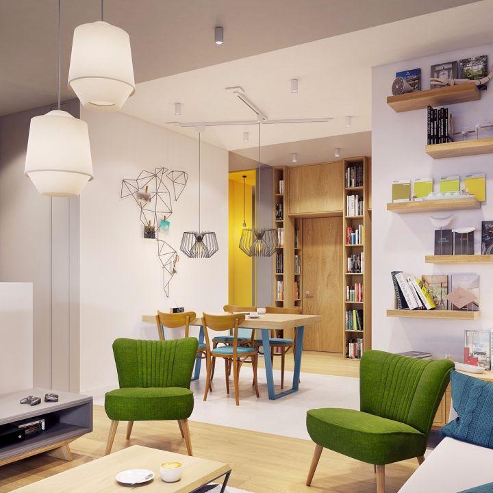 10万预算52平米公寓装修效果图