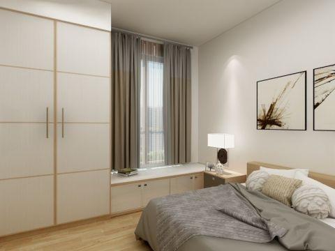 卧室白色飘窗现代简约风格装潢设计图片