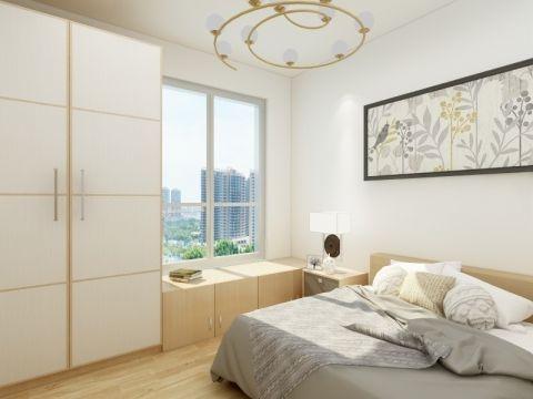卧室白色衣柜现代简约风格效果图