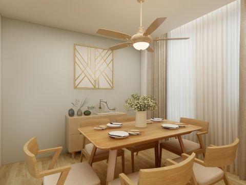 餐厅咖啡色窗帘现代简约风格装潢效果图