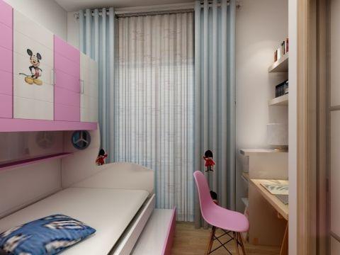 儿童房白色榻榻米现代简约风格装潢图片