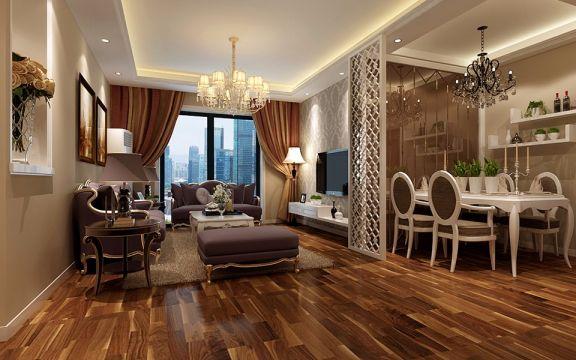 新古典风格96平米三室两厅新房装修效果图