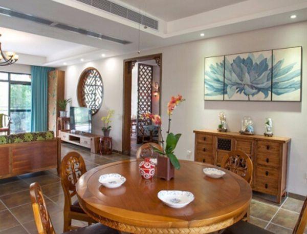 中式古典风格三室两厅184平米装修效果图