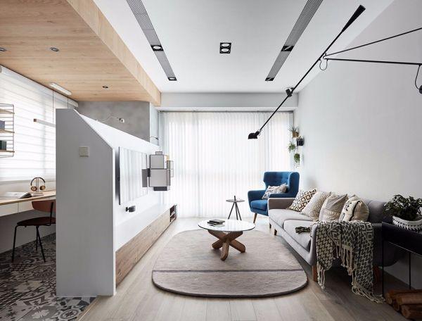 北欧风格112平米三室两厅新房装修效果图