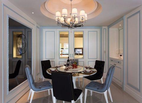 欧式风格129平米三室两厅新房装修效果图