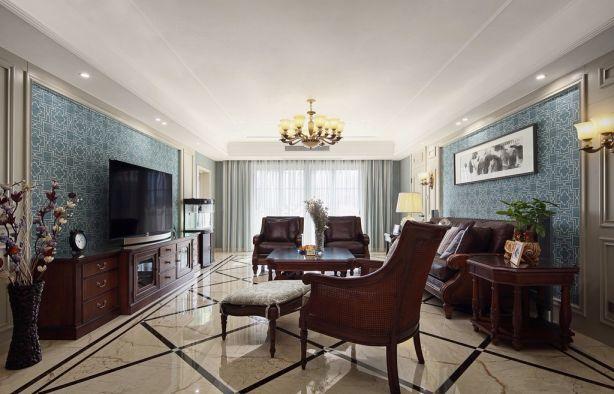 美式风格180平米四室两厅新房装修效果图