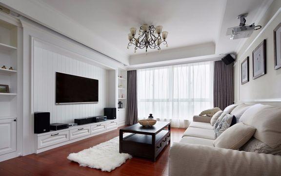 18万预算136平米三室两厅装修效果图
