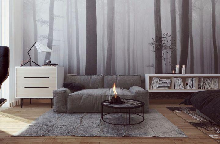 简约风格51平米一居室室内装修效果图