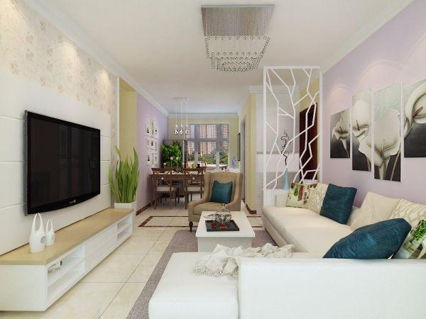 清新素丽客厅设计图欣赏