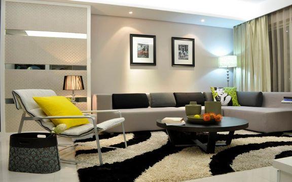 美感灰色沙发装修美图