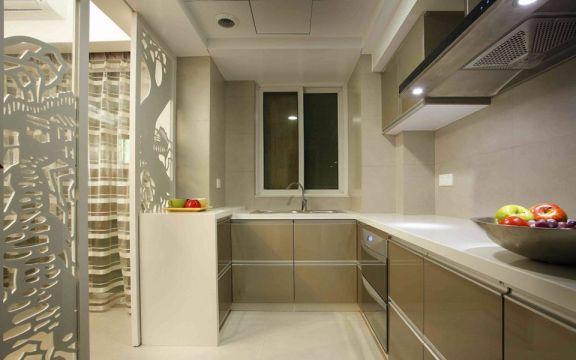 温馨厨房橱柜装饰图片