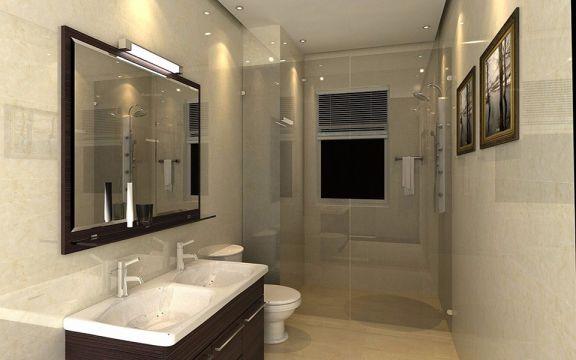 卫生间黑色洗漱台装修设计图片
