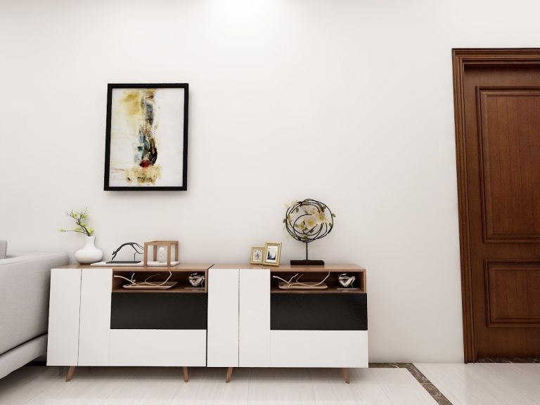 客厅白色现代简约风格装修效果图