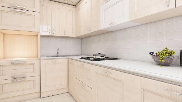 厨房黄色现代简约风格装饰效果图