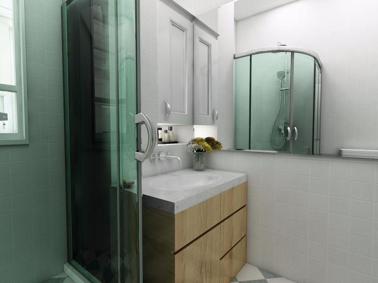 卫生间黄色现代简约风格装修图片