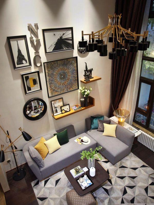 优雅现代简约灰色沙发装修